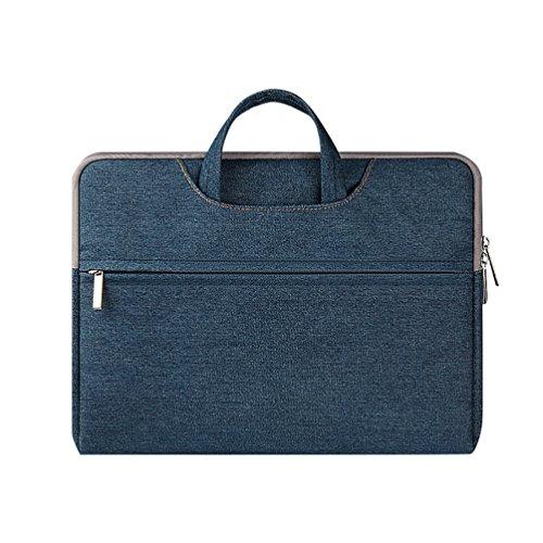 YiJee Tessuto Denim Custodia Borsa Ventiquattrore Sleeve Case per Notebook Macbook Pro Air da 11.6-15.6 Pollici 11.6 Inch Blu
