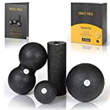 High Pulse® Faszien Set inkl. 2X Faszienball, 1x Mini Faszienrolle, 1x Duoball und Übungsposter - Kombi-Set für eine gezielte, tiefenwirksame Massage von Faszien und die Regeneration der Muskeln   S