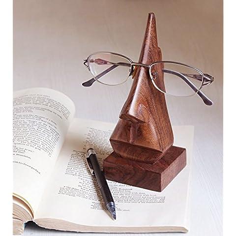 Regalo para la Navidad o de cumpleaños de sus seres queridos Mano Clásico tallada Rosewood nariz en forma de la lente de