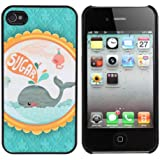 Hard Case Dolphin Frosted lindo estupendo de la historieta para el iPhone 4 4S.