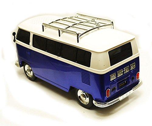 Bus-Bulli-blau-Bluetooth-Sound-Station-Radio-Slot-fr-USB-Stick-u-Micro-SD-Card-Line-In