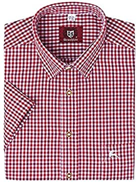 OS-Trachten Herren Trachtenhemd kurzarm rot karo 112625