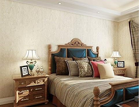Hy-non-woven Chiffon papier peint Pixel Couleur de chambre à coucher Salon Restaurant Étude Boutique, M Blanc