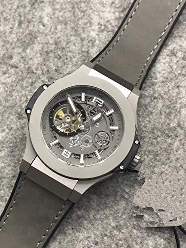 WDXDP Uhr Luxusmarke Neue Herrenuhr Silber Schwarz Grau Titan Braun Leder Automatische Mechanische Saphir Tourbillion Uhren Wasserdicht7