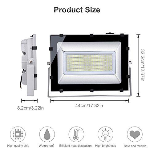 comprare on line Viugreum Faro TOP DELLA GAMMA 300W Fari LED Lampade per Esterni, Impermeabili, 36000LM, LUCE BIANCA NON GIALLA (6000-6600K), Lampada Potente Super Illuminante Faretto per Giardino prezzo