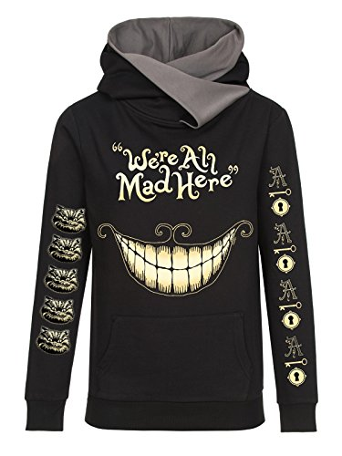 Alice In Wonderland Mad Mouth Felpa donna nero XXL