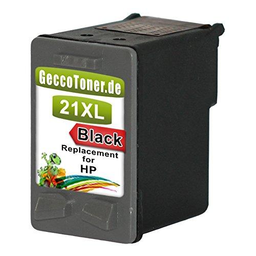 Premium Kompatible Tintenpatrone als Ersatz für Hp 21 XL Black BK Schwarz...