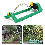 Mecohe Irrigatore Oscillante Giardino Nuovo Irrigatore Oscillante Compatto Spruzzatore del Prato, Irrigatore Automatico da Giardino, Verde