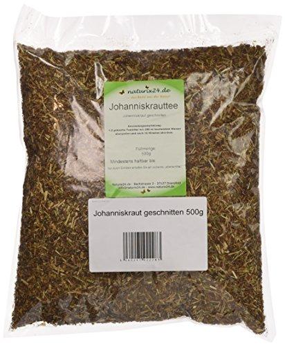 Naturix24 Johanniskrauttee, Johanniskraut geschnitten, 2er Pack (2 x 500 g)