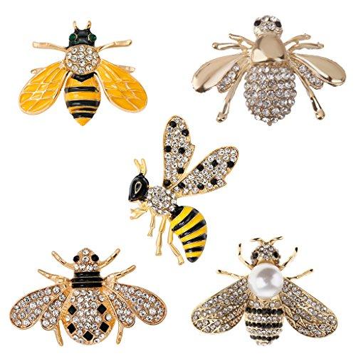 istall Honigbiene form Insekt Brosche Modeschmuck Brosche Halloween-Partei Unisex Mode Kostüm Schmuck (Kostüm D'halloween)