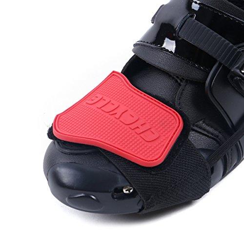Madbike Gear Shifter Zubehör für Schuhe Motorrad Stiefel Protector (red) (Protector Red)