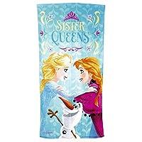 Disney Frozen Sister Queens Velour Towel, Blue