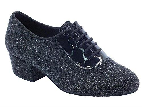 Scarpa da donna per allenamento ballo tessuto jam nero tacco 40 (Taglia 38)