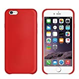 iPhone 7 Case,Skin Durable Protective Case Premium PU Leather Wallet Case Durable Protective Case with Kickstand and Credit Card Slot Cash Holder Flip Case Replacement for iPhone 7 Red