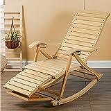 QFFL Schaukelstuhl Erwachsene Freizeit Liegestuhl Startseite Balkon Bambus Schaukelstuhl Alter Mann ruht auf Einem Stuhl Retractable Massage Schaukelstuhl Outdoor Hocker