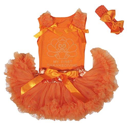 Thanksgiving Türkei orange Baby Mädchen Rock Tutu Set 3–12M Gr. Einheitsgröße , Orange (Türkei Baby-kostüm)