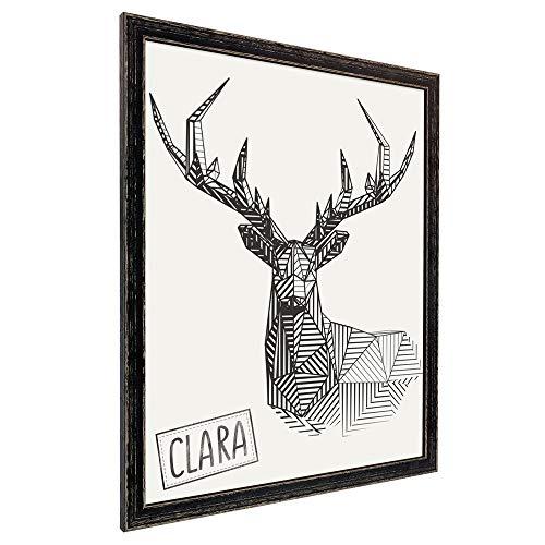 Bilderrahmen Clara 11x14 (Zoll/inch) | ca. 28x35,6cm Eiche Schwarz -