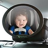 Empresa espejo de coche de bebé, más segura vista trasera oval bebé asiento espejo para posterior del bebé asiento, fácil instalar en coche reposacabezas del asiento trasero, totalmente ajustable con función de giro e inclinación, montaje antivibraciones, producto Premium seguridad