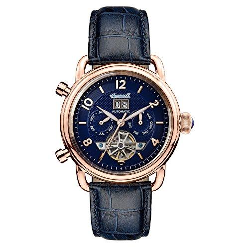 Ingersoll Herren Chronograph Automatik Uhr mit Leder Armband I00902