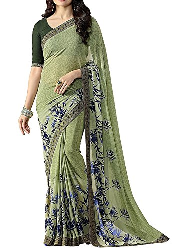 Georgette Fabric Saree With Blouse Piece (Free Size) (1356)