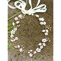 Handmadejewelrylady FXmimior Fascia per capelli con foglie oro rosa cb35a11aa238