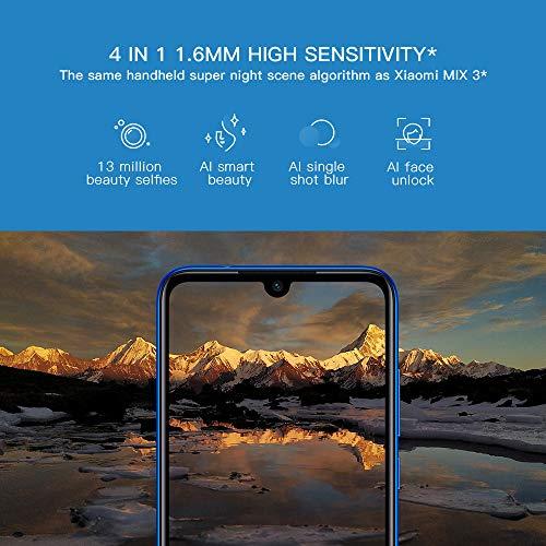 Xiaomi Redmi Note 7 Smartphone 6.3'' Plein écran, 4 Go de RAM + 64 Go de ROM, processeur Phare Octa-Core Snapdragon 660 Mobile, Version Globale (Bleu)
