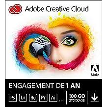 Adobe Creative Cloud All Apps   1 an   PC/Mac   Téléchargement