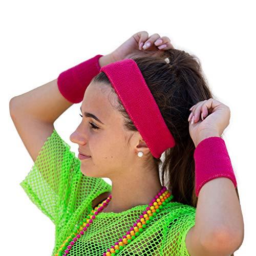 Oblique Unique® Neon Stirnband + Handgelenk Schweißband