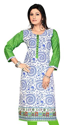 Pakistani Long Anarkali Long Printed Embroidery Kurtis(Size