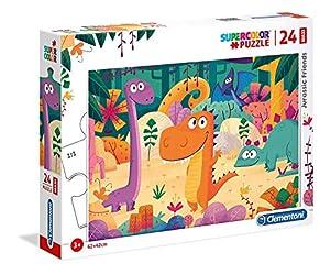 Clementoni Supercolor puzzle-dinosauri-24Piezas Maxi, 28506