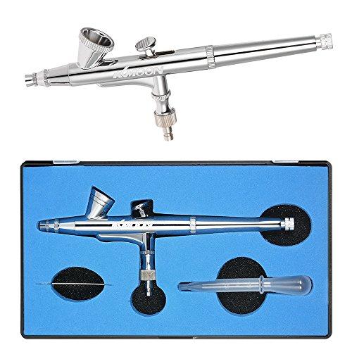 KKmoon 0.25 mm Schwerkraft Dual Action Airbrush Set Satz Airbrushpistole für Makeup Malerei Nagel Kunst Tätowierung mit Nadel, Kunststoff Tropfer Schraubenschlüssel