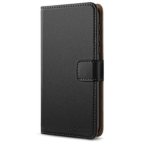 HOOMIL Nokia 6 Hülle, Handyhülle Nokia 6 Tasche Leder Flip Case Brieftasche Etui Schutzhülle für Nokia 6 Cover - Schwarz (H3185)