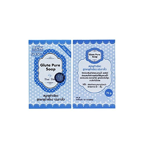 Wink Wise Soap 5x70G.Gluta Pure Soap wink white Whitening Soap Lightening Skin Face Lightener