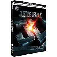 Justice League Steelbook 4K Ultra HD + Blu-Ray 3D + 2D Edition limited Edition Steelbook - DC COMICS 4K Ultra HD + Blu-ray 3D + Blu-ray SteelBook Region free