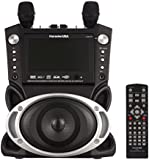 Karaoke USA GF829 Portable DVD/CDG/MP3G/CD Karaoke Machine with Large Screen, 2 Microphones, and 300 Karaoke Songs