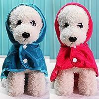 ERCZYO Cute printed raincoat camouflage pet raincoat dog raincoat button rainy season clothes Teddy bear spring and summer models
