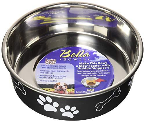 Loving Pets 7407 Bella Schüssel Dog Bowl,Espresso, Large, 2000ml -