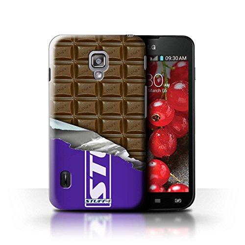 Kobalt® Imprimé Etui / Coque pour LG Optimus L7 II Dual / Doigts/Sticks conception / Série Chocolat Blocs Dairy Milk