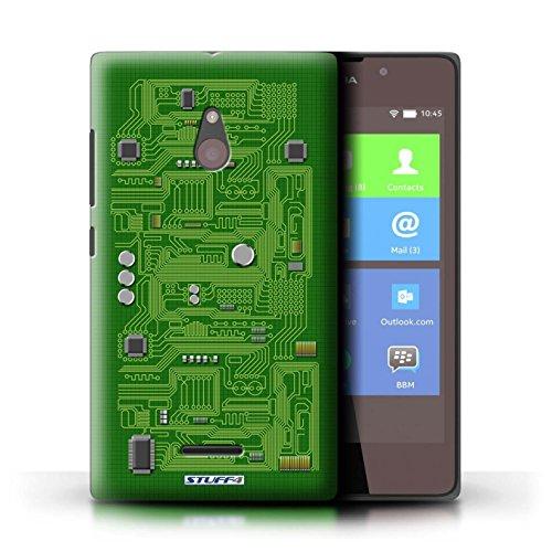 Kobalt® Imprimé Etui / Coque pour Nokia XL / Rouge conception / Série Circuit Board Vert