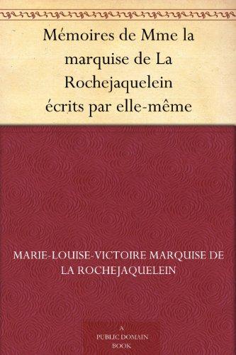 Couverture du livre Mémoires de Mme la marquise de La Rochejaquelein écrits par elle-même
