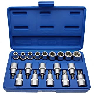 Alkan-Werkzeug 19-Piece Socket Wrench Set, TORX®, E-Profile + T-Profile