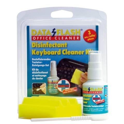 Desinfizierendes Tastaturen-Reinigungsset, 3-tlg, Dataflash DF1750, Reiniger für Tastatur reinigen, desinfizieren, DF1750