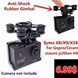 Generic RC Quadcopter Gimbal for SYMA X8C X8W X8G X8 Series With Camera Holder Compatible With SJ/Gopro/XIAOYI Camera Gimble Spare Parts