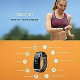 Cubot S1 Outdoor Sports Fitness Tracker IP67 Étanche Bracelet Tracker d'activité Smart Watch Band Wristband Moniteur de Fréquence Cardiaque Bluetooth Smart Band Suivi du sommeil Calories Pédomètre pour Android Smartphone Samsung LG IOS iPhone