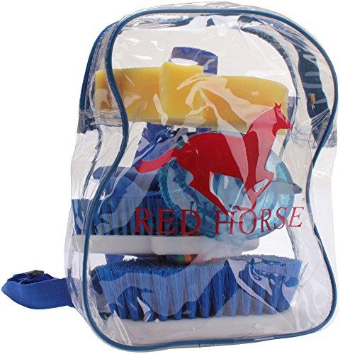 HORKA Rotes Pferd Curry Kamm reinigt Bürste Grooming Massage Zubehör, Blau, Einheitsgröße -
