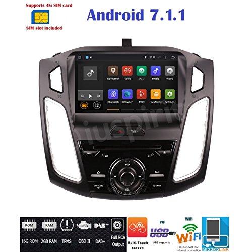 Android 7.14g LTE GPS USB SD DVD WLAN Bluetooth Autoradio Navi Ford Focus 2015, 2016, 2017