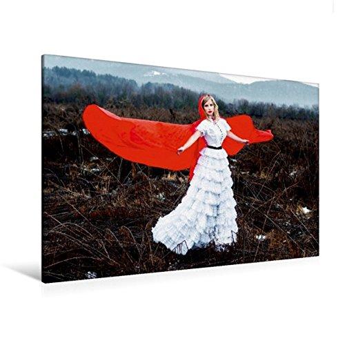 Calvendo Premium Textil-Leinwand 120 cm x 80 cm quer, Rotkäppchen | Wandbild, Bild auf Keilrahmen, Fertigbild auf echter Leinwand, Leinwanddruck: EIN Märchen, modern interpretiert Menschen Menschen