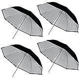 """fotoconic 4pcs 40""""/100cm negro plata Reflective Umbrella fr–Estudio de Iluminación"""