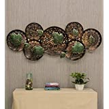 MICROTEX Big Iron Metal Big Leaves on Plate with LED Wall Hanging Home décor (22X3X52 inch)