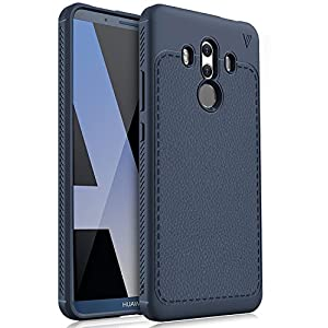 Huawei Mate 10 Pro Cover, KuGi Protettiva Case Cover Custodia in silicone per Huawei Mate 10 Pro Smartphone (Blu)